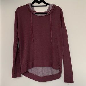 Rubbish Maroon Pullover with Hood